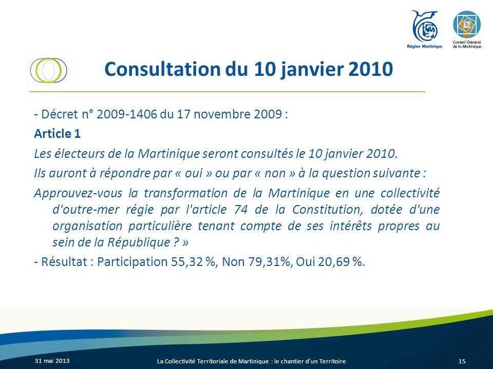 Consultation du 10 janvier 2010