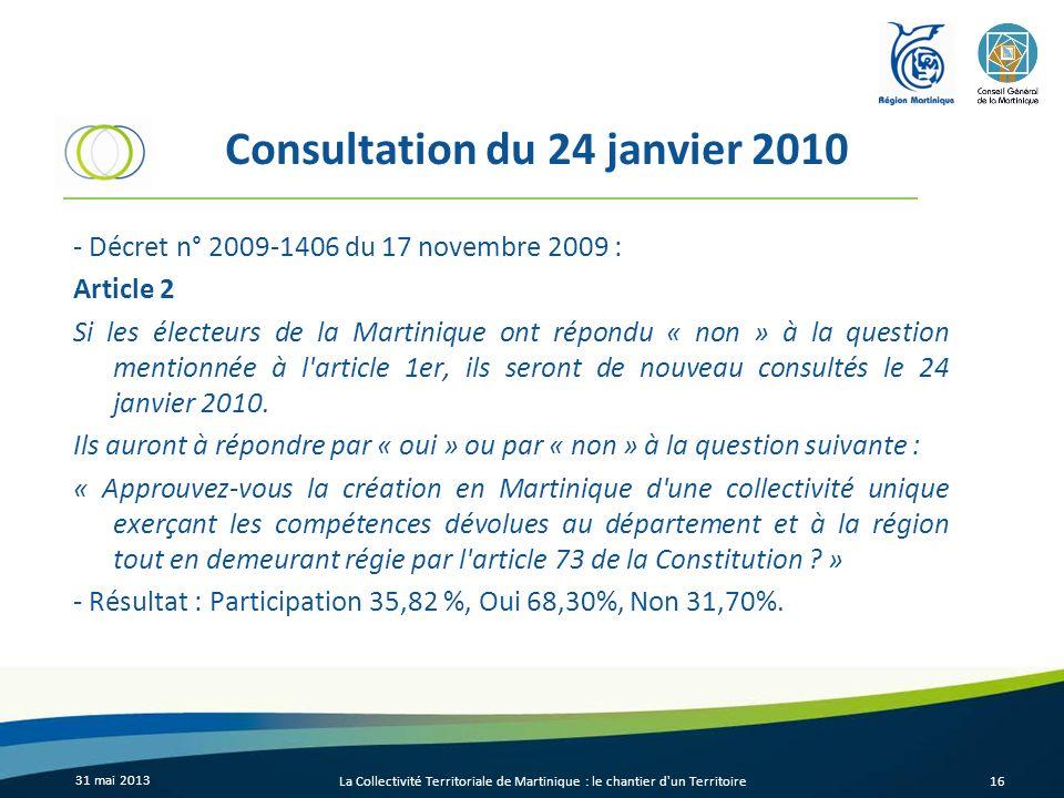 Consultation du 24 janvier 2010