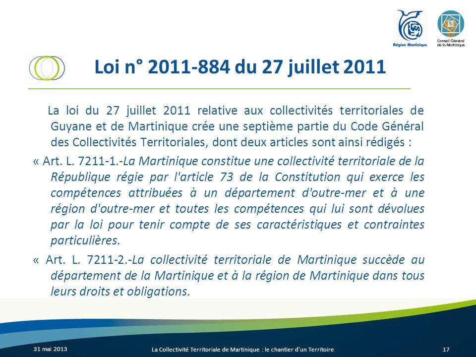 Loi n° 2011-884 du 27 juillet 2011