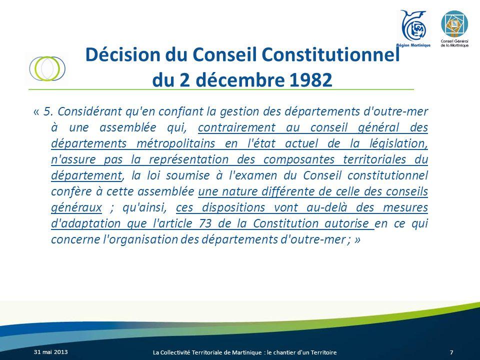 Décision du Conseil Constitutionnel du 2 décembre 1982