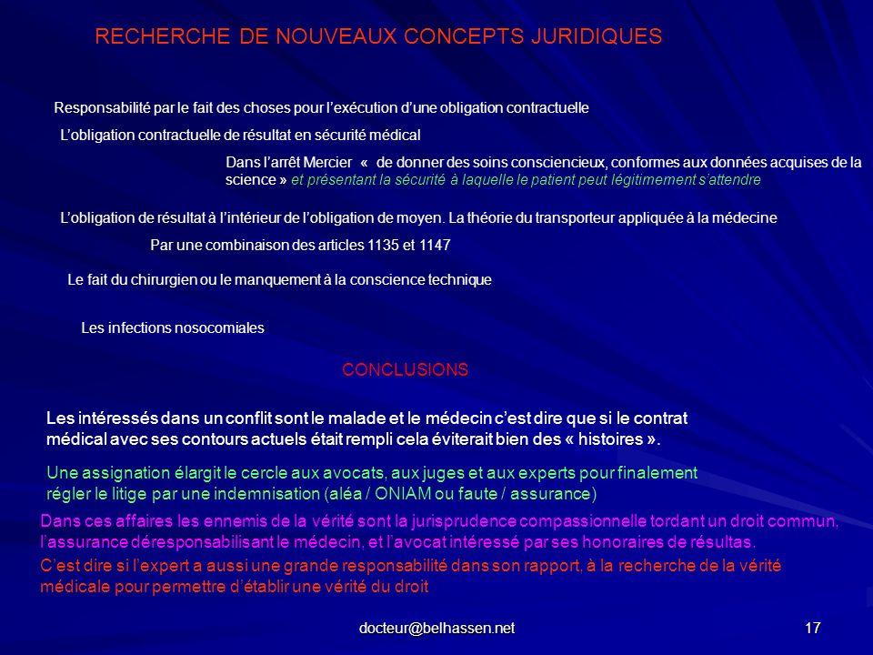 RECHERCHE DE NOUVEAUX CONCEPTS JURIDIQUES