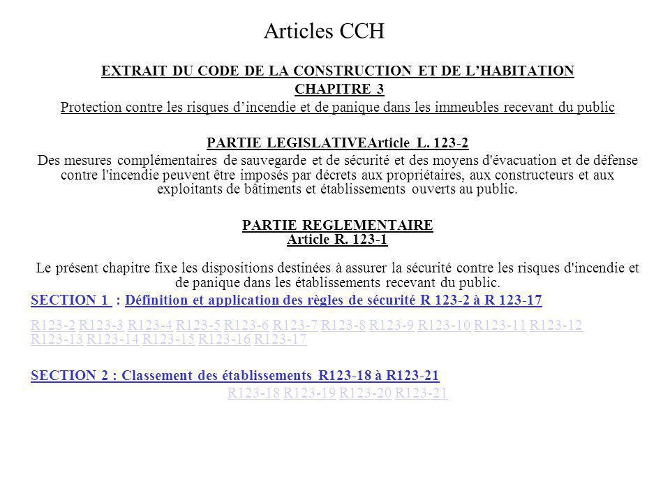 Articles CCH EXTRAIT DU CODE DE LA CONSTRUCTION ET DE L'HABITATION