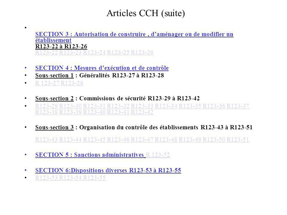 Articles CCH (suite)