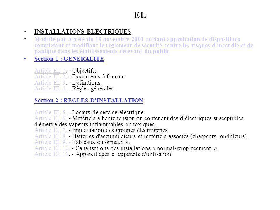 EL INSTALLATIONS ELECTRIQUES