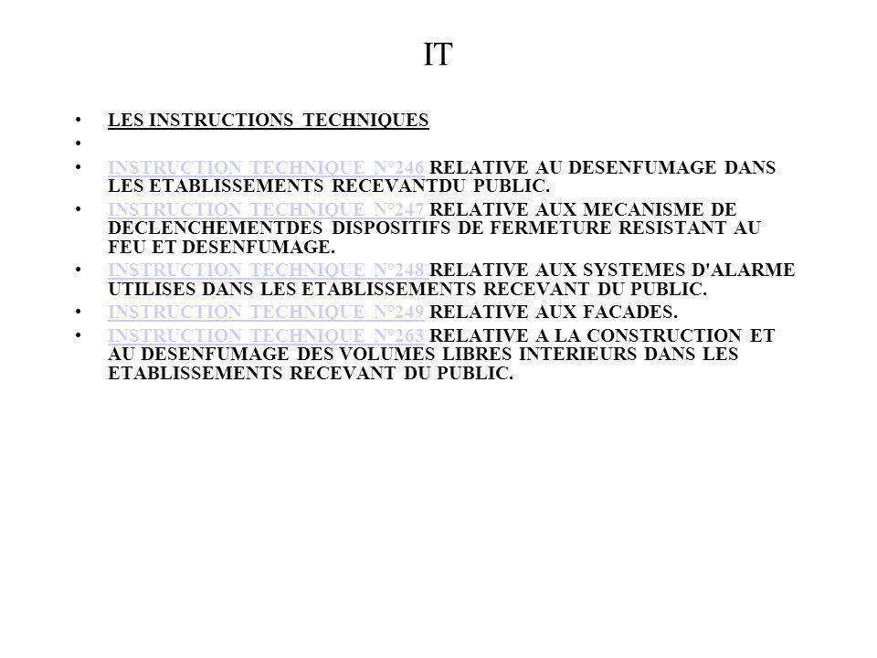 IT LES INSTRUCTIONS TECHNIQUES