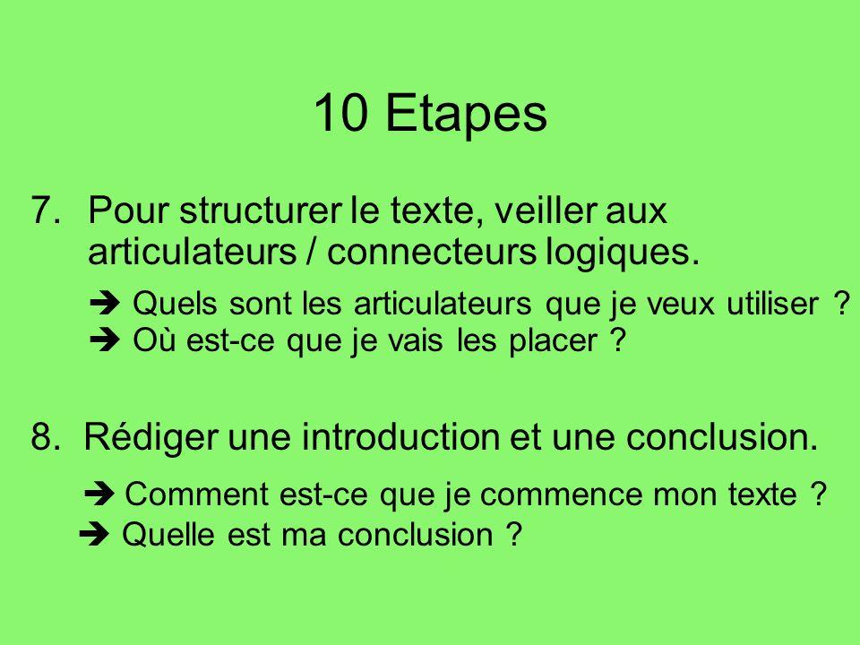 10 Etapes