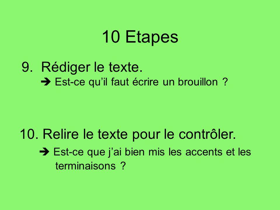 10 Etapes 9. Rédiger le texte.  Est-ce qu'il faut écrire un brouillon