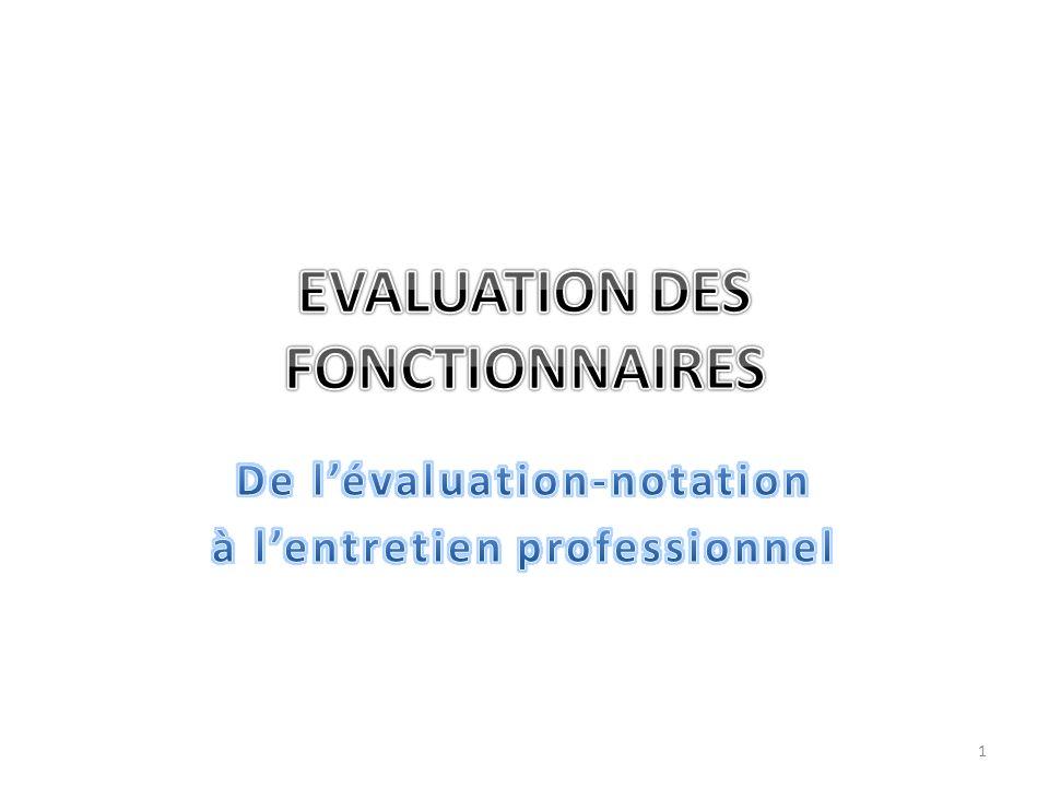 EVALUATION DES FONCTIONNAIRES