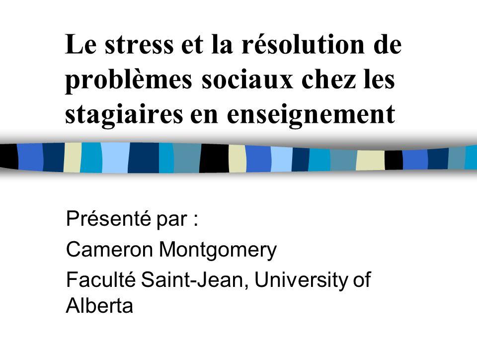 Le stress et la résolution de problèmes sociaux chez les stagiaires en enseignement