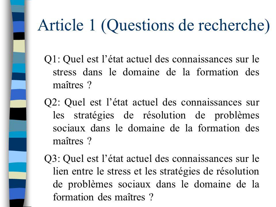 Article 1 (Questions de recherche)