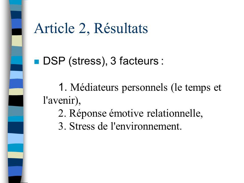 Article 2, Résultats