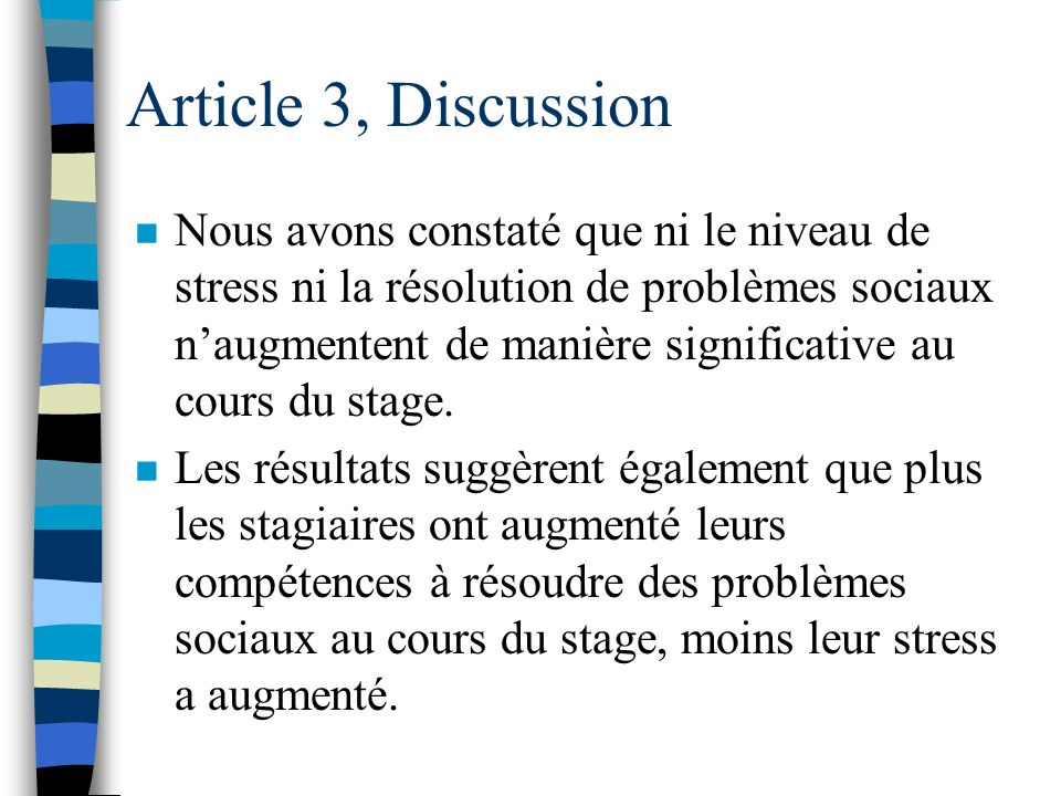 Article 3, Discussion