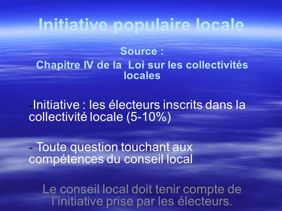 Initiative populaire locale