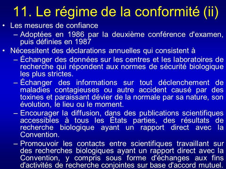 11. Le régime de la conformité (ii)