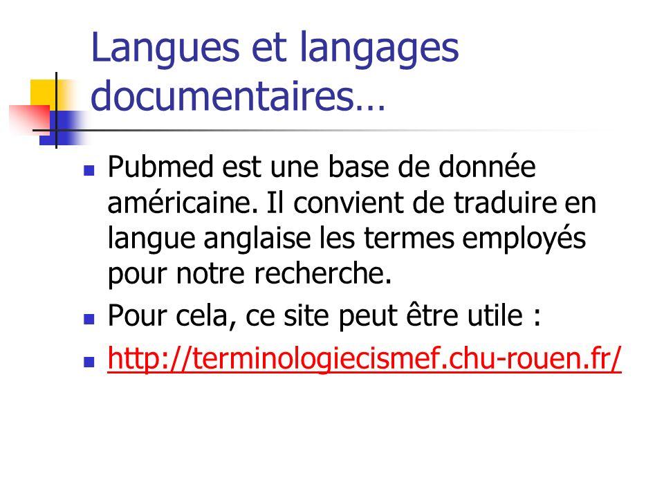 Langues et langages documentaires…