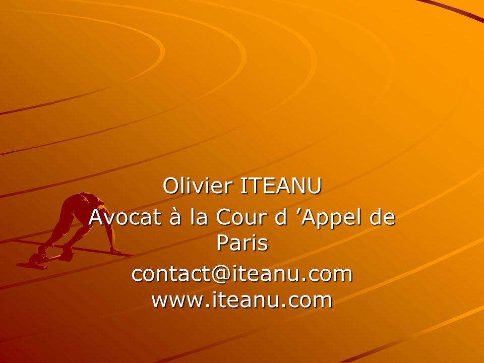 Avocat à la Cour d 'Appel de Paris contact@iteanu.com www.iteanu.com