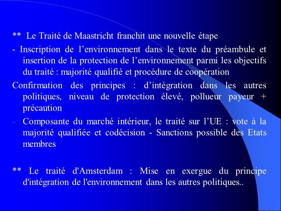 ** Le Traité de Maastricht franchit une nouvelle étape