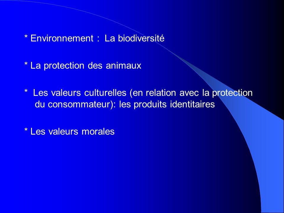 * Environnement : La biodiversité * La protection des animaux