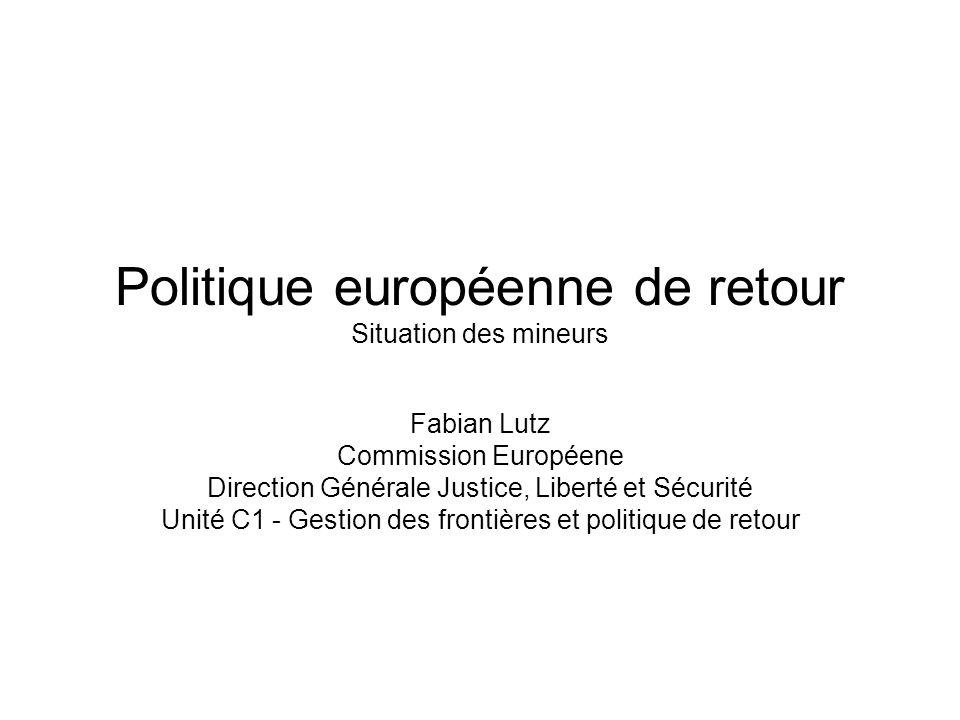 Politique européenne de retour Situation des mineurs