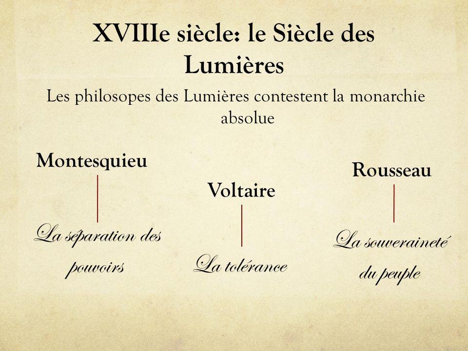 XVIIIe siècle: le Siècle des Lumières