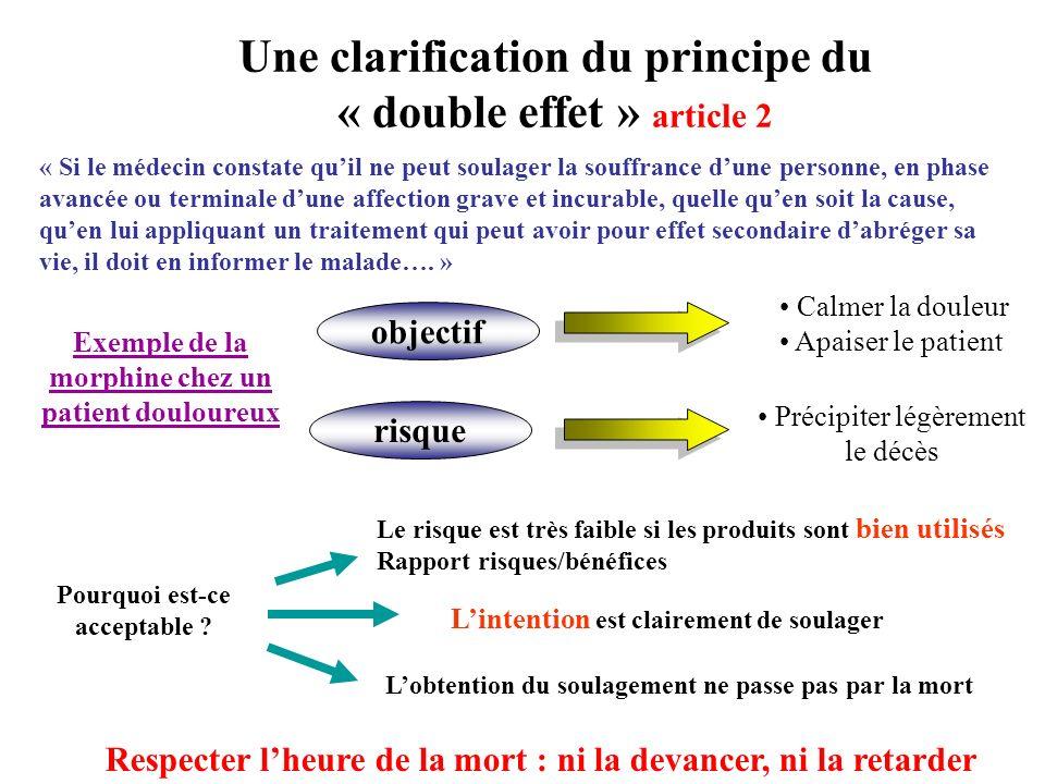 Une clarification du principe du « double effet » article 2