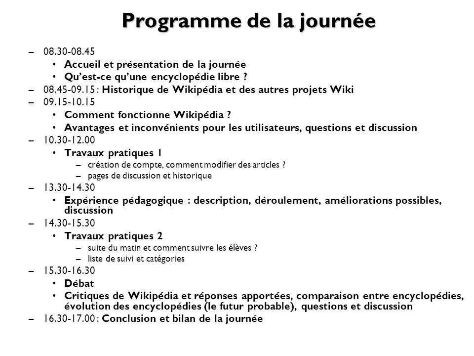 Programme de la journée