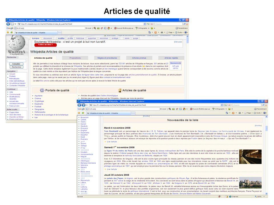 Articles de qualité