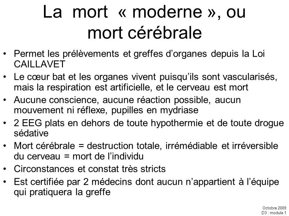 La mort « moderne », ou mort cérébrale