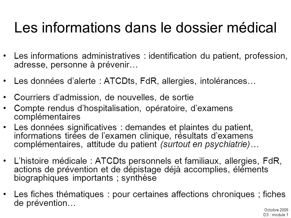 Information consentement secret et dossier certificats - Hospitalisation d office en psychiatrie ...
