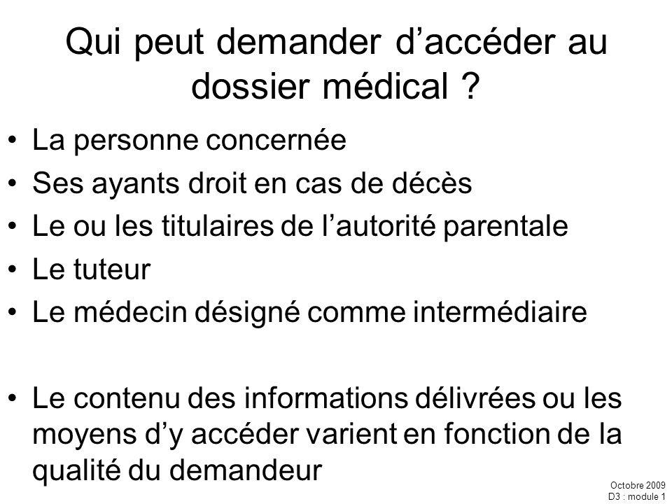 Qui peut demander d'accéder au dossier médical