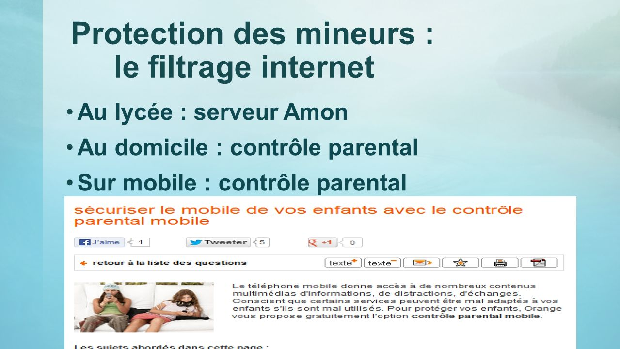 Protection des mineurs : le filtrage internet