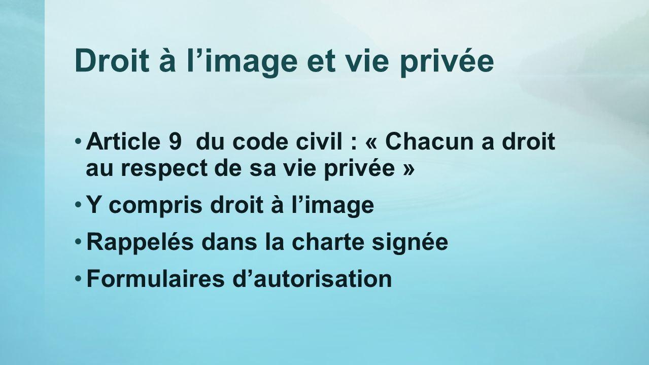 Droit à l'image et vie privée