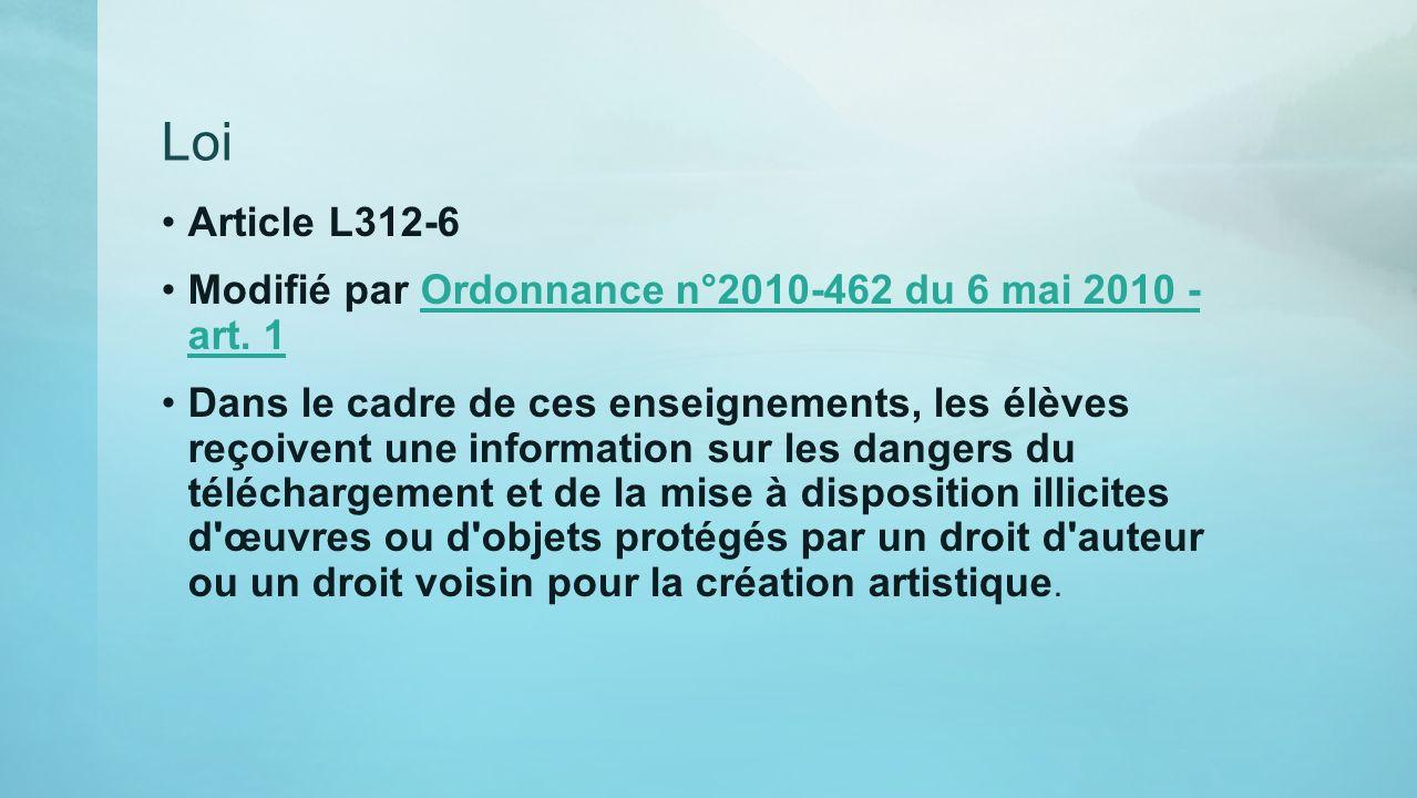 Loi Article L312-6. Modifié par Ordonnance n°2010-462 du 6 mai 2010 - art. 1.
