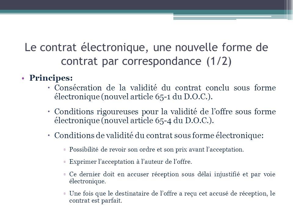 Le contrat électronique, une nouvelle forme de contrat par correspondance (1/2)