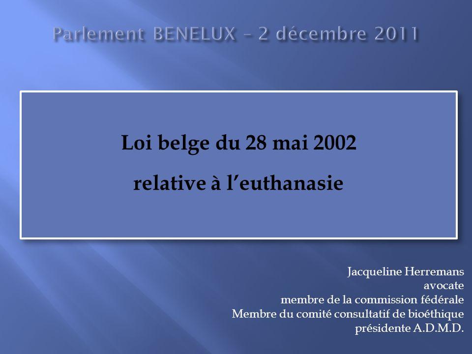 Parlement BENELUX – 2 décembre 2011