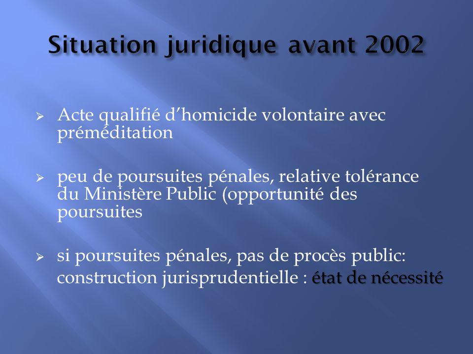 Situation juridique avant 2002