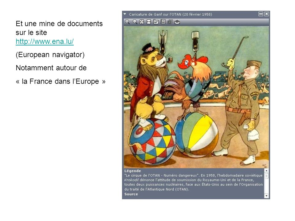 Et une mine de documents sur le site http://www.ena.lu/