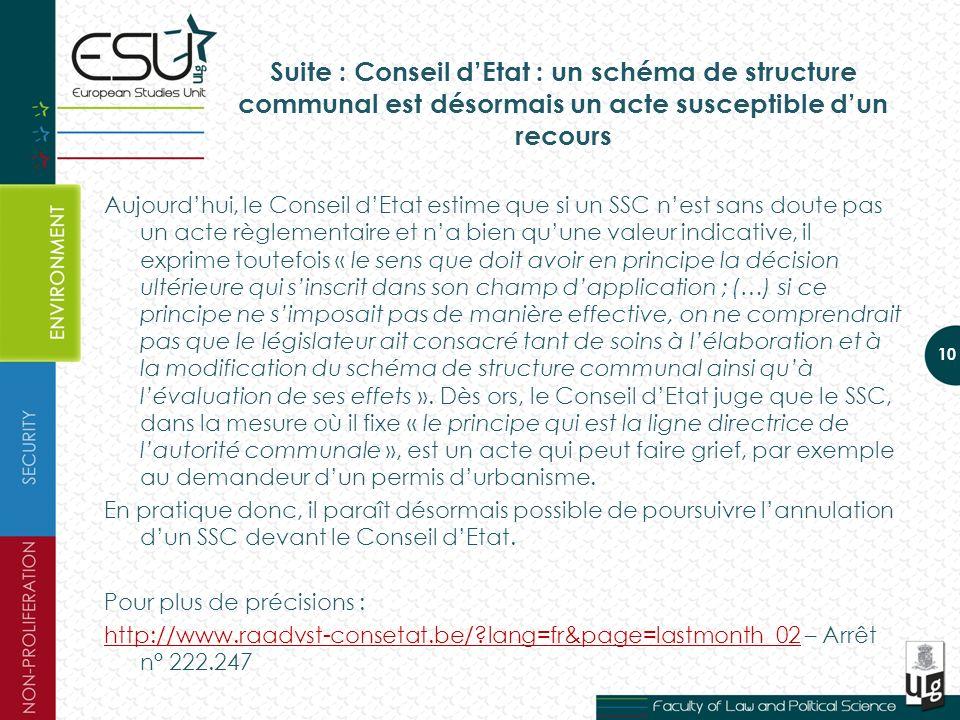 Suite : Conseil d'Etat : un schéma de structure communal est désormais un acte susceptible d'un recours