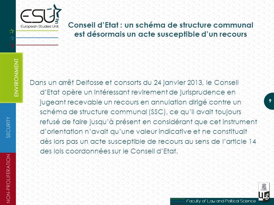 Conseil d'Etat : un schéma de structure communal est désormais un acte susceptible d'un recours