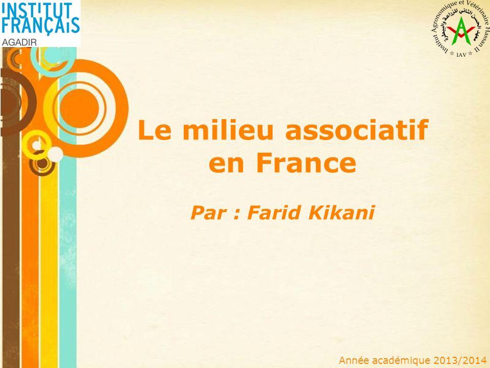 Le milieu associatif en France