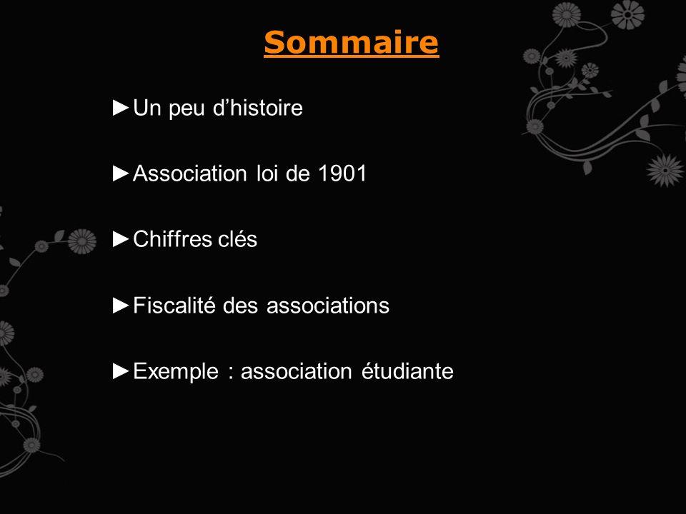 Sommaire Un peu d'histoire Association loi de 1901 Chiffres clés
