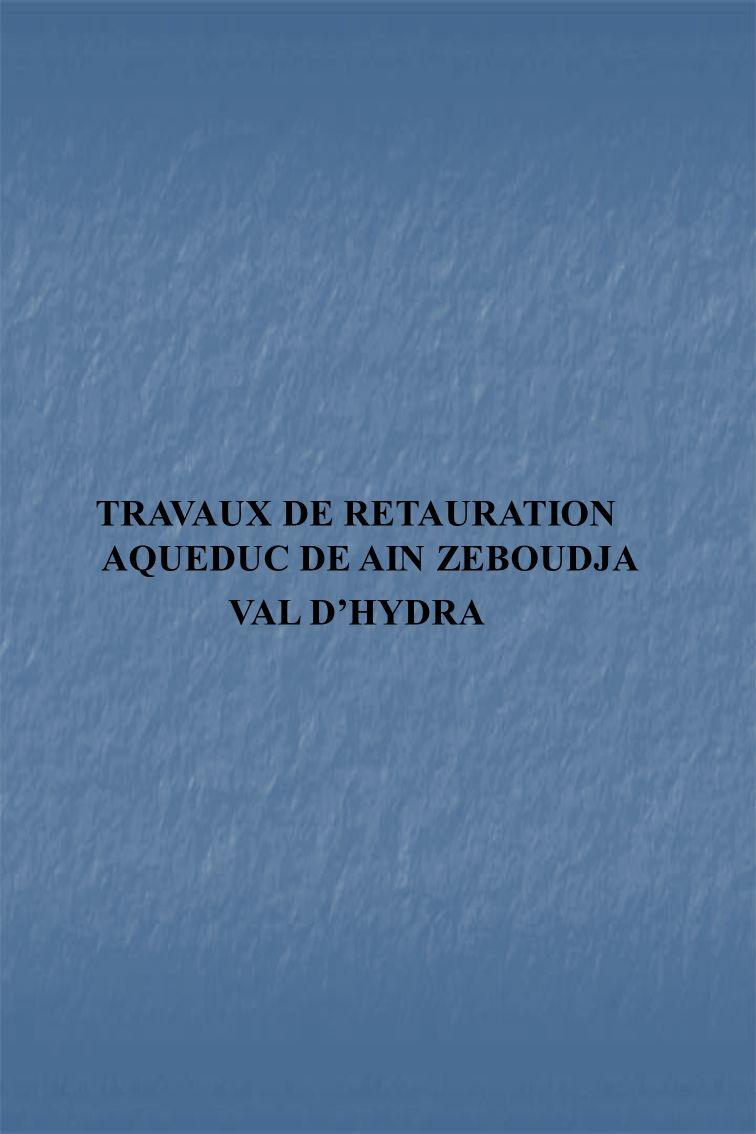 TRAVAUX DE RETAURATION AQUEDUC DE AIN ZEBOUDJA