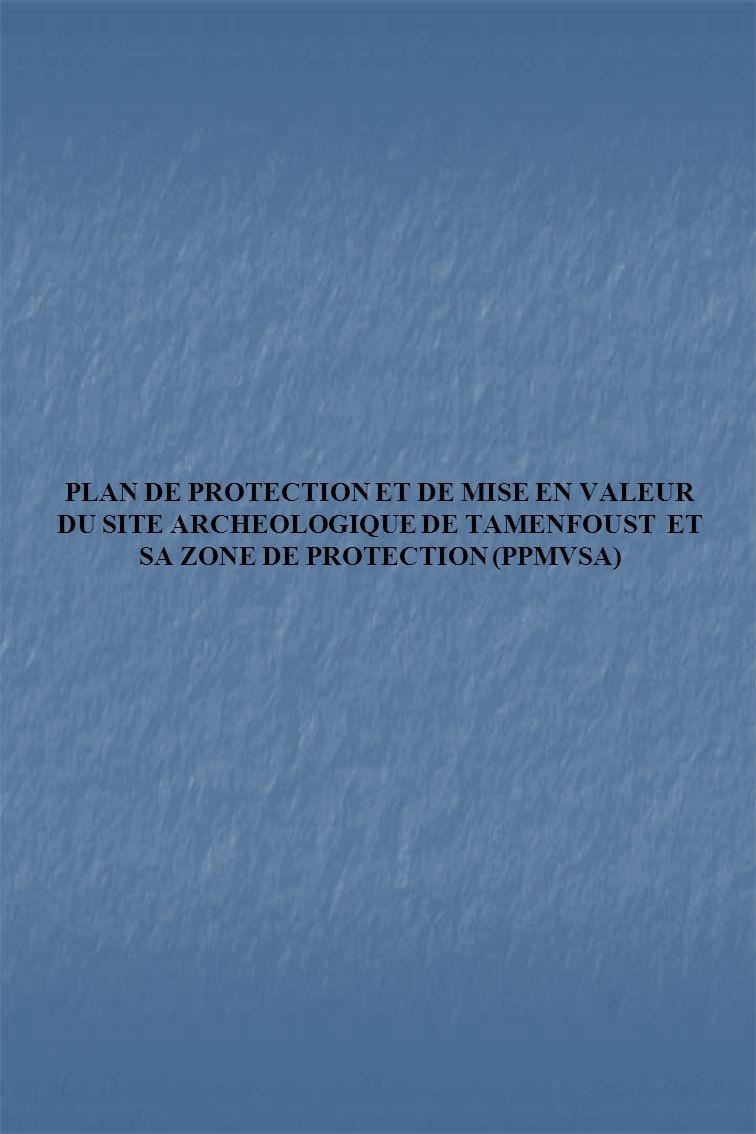 PLAN DE PROTECTION ET DE MISE EN VALEUR DU SITE ARCHEOLOGIQUE DE TAMENFOUST ET SA ZONE DE PROTECTION (PPMVSA)