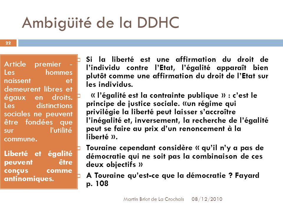 Ambigüité de la DDHC