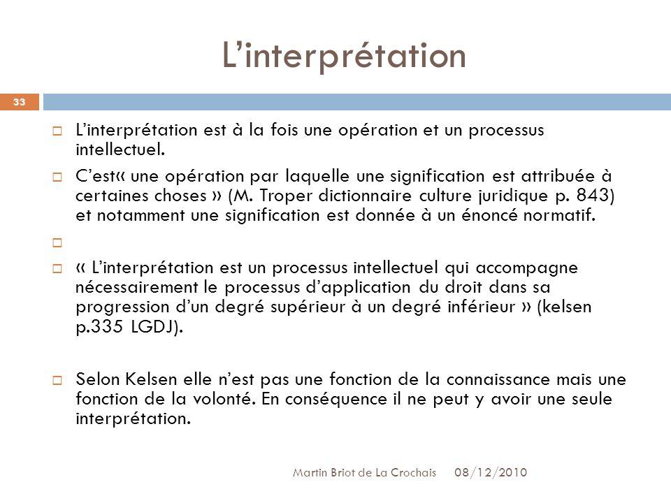 L'interprétation L'interprétation est à la fois une opération et un processus intellectuel.