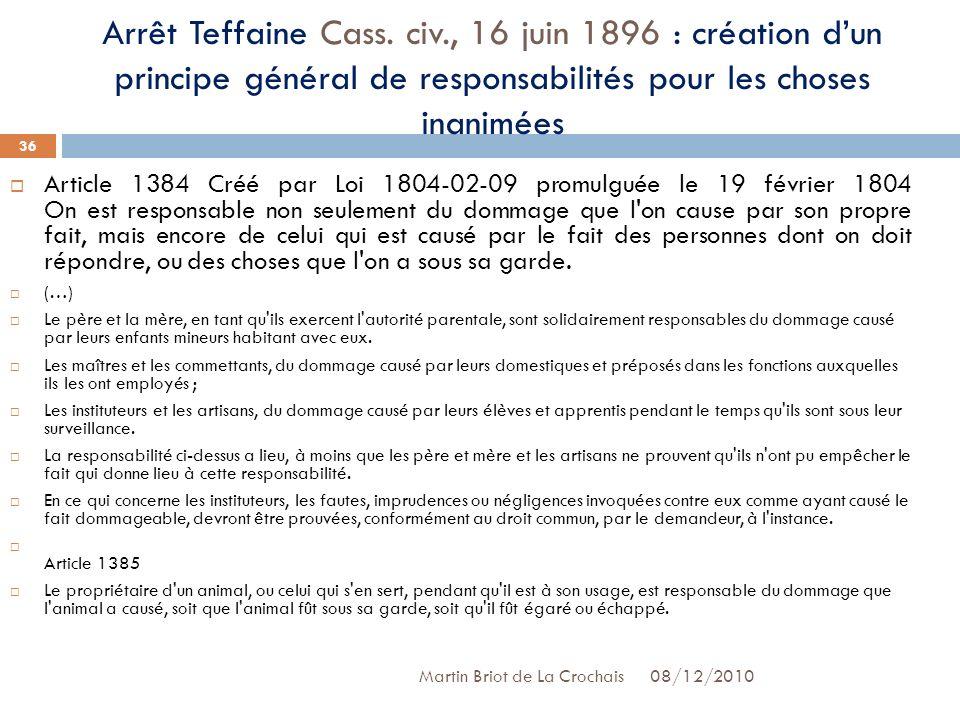 Arrêt Teffaine Cass. civ