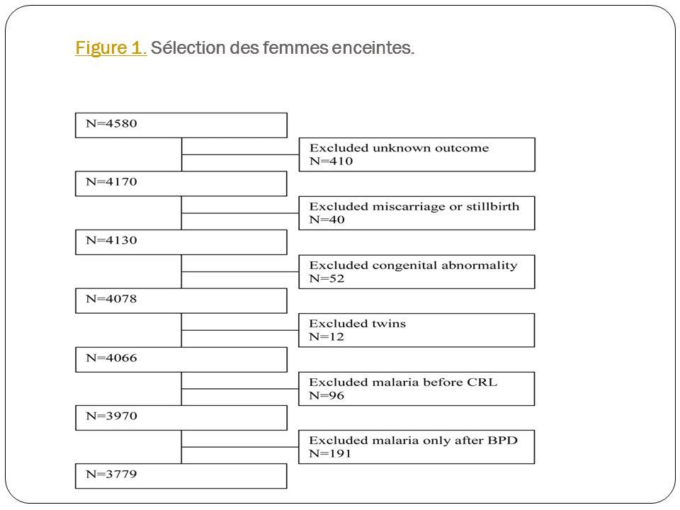 Figure 1. Sélection des femmes enceintes.