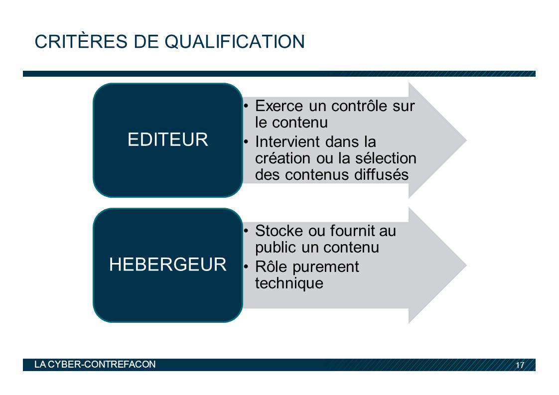 Critères de qualification