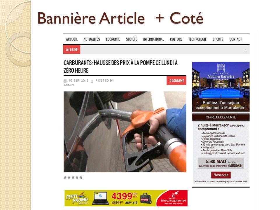 Bannière Article + Coté