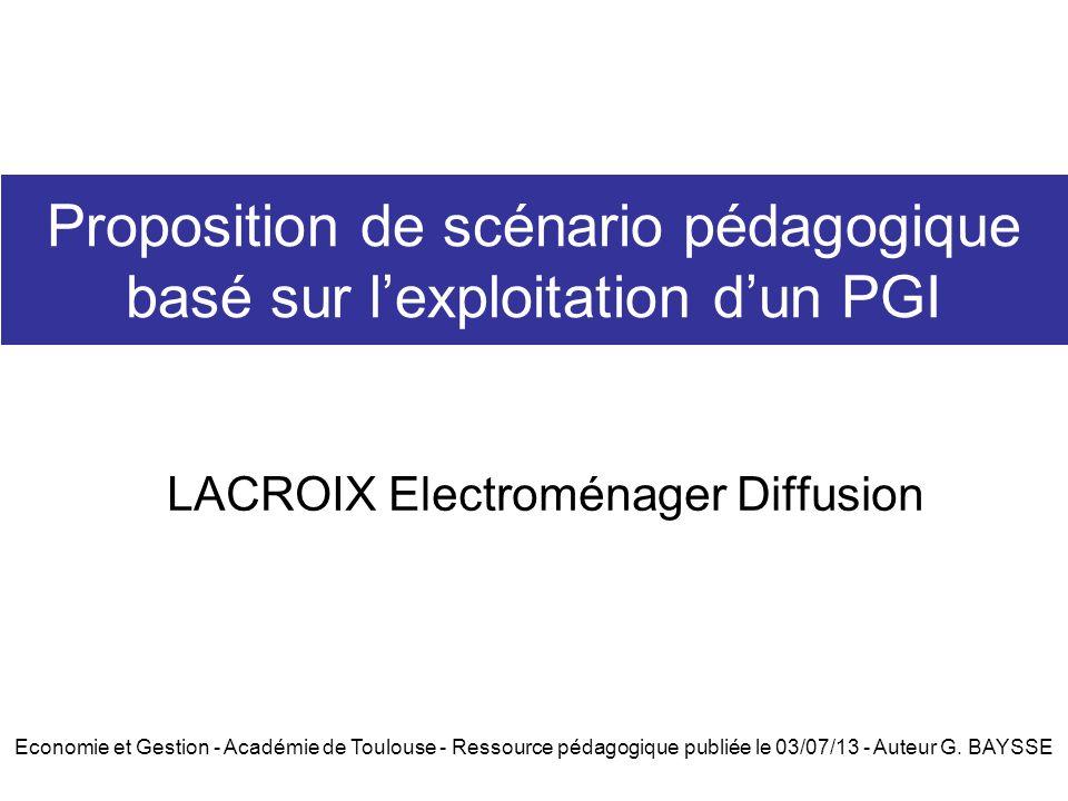 Proposition de scénario pédagogique basé sur l'exploitation d'un PGI